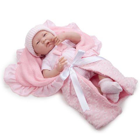 Papusa nou-nascut,fata,cu accesorii,39cm,JC Toys