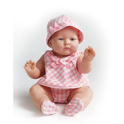Papusa bebe,fata,tinuta eleganta roz,46cm,JC Toys