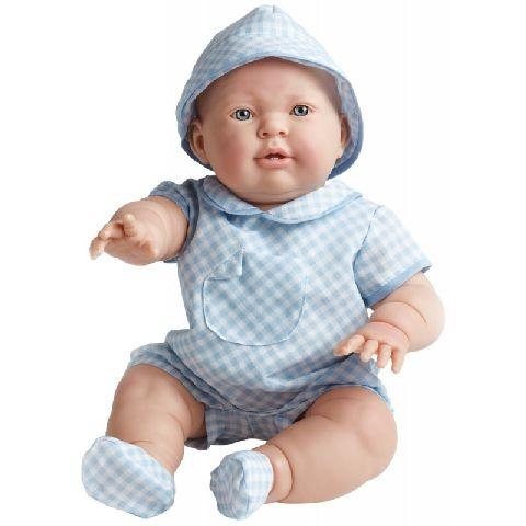 Papusa bebe,Lucas,costum blue,46cm,JC Toys