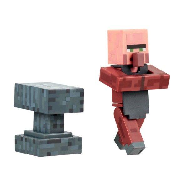 Minecraft Action Figure Blacksmith with Anvil 8 cm