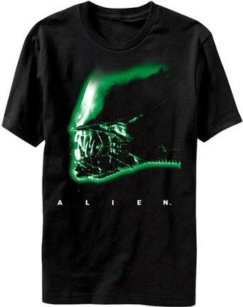Alien T-Shirt Head Size L