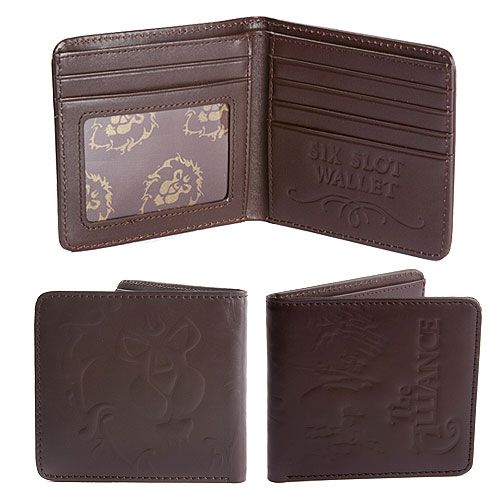 World of Warcraft Leather Wallet Alliance Crest