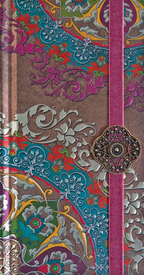 Agenda 9x17.5cm,Oriente,elastic lat,roz