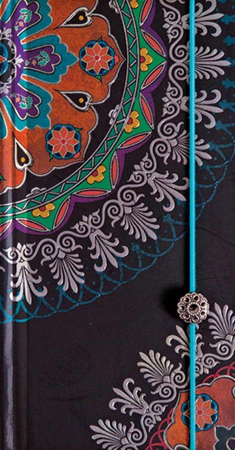 Agenda 9x17.5cm,Oriente,elastic,turcoaz