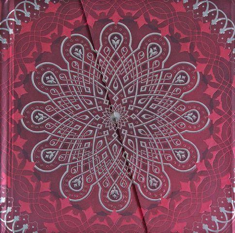 Agenda 16.5x16.5cm,Mandalas,magnet,rosu
