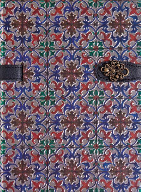 Agenda 13x18cm,Azulejos de Portugal,rosu