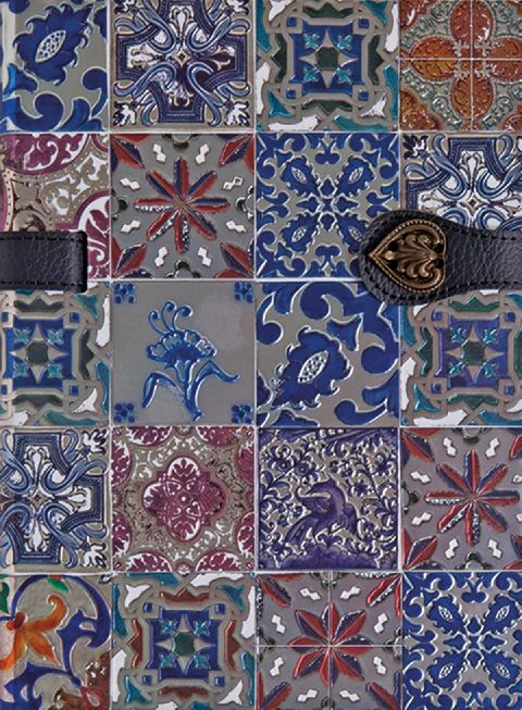 Agenda 13x18cm,Azulejos de Portugal,albastru