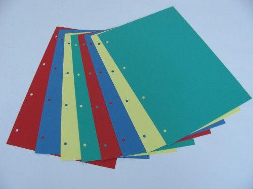 Separatoare carton,A4,diverse culori