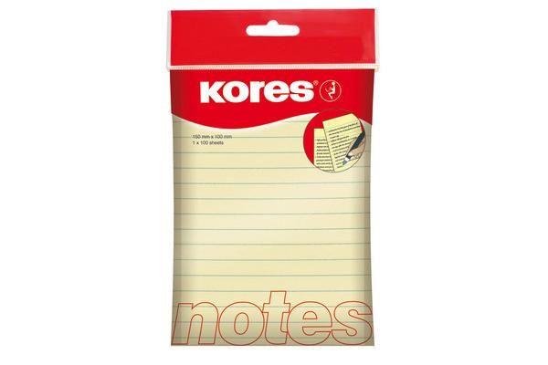 Notes galben Kores 150x100,100f,liniat