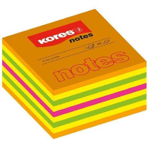 Cub notes autoadeziv Kores,75x75,450file