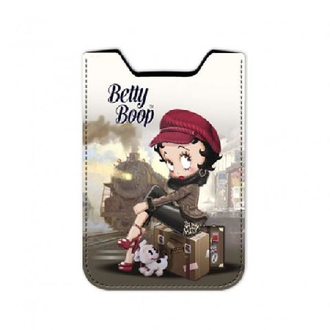Husa telefon 8x13x1cm,Betty Boop,Train