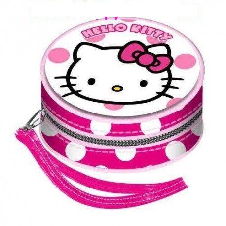 Portofel monede 9x9x5cm,Hello Kitty Dots