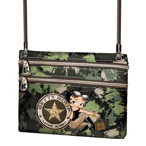 Portofel snur 18x15x1cm,Betty Boop,Army
