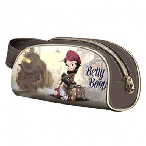 Geanta cosmetice 20x11x4cm,Betty Boop,Train