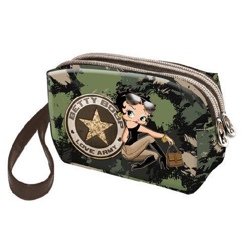 Geanta cosmetice 14x9x6cm,Betty Boop,Army