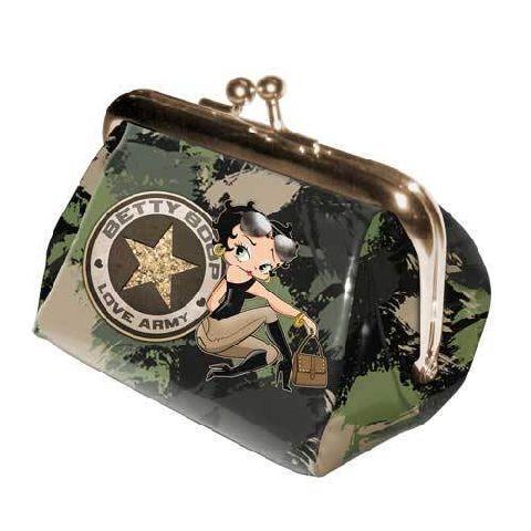 Portofel monede 8x9x8cm,Betty Boop,Army