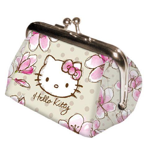 Portofel monede 8x7x7.5cm,Hello Kitty Mognolia