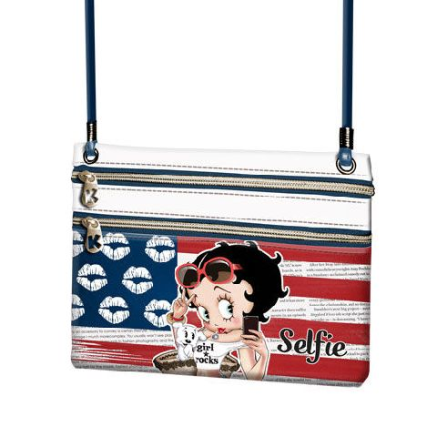 Portofel snur 21x17.5x1cm,Betty Boop,Selfie