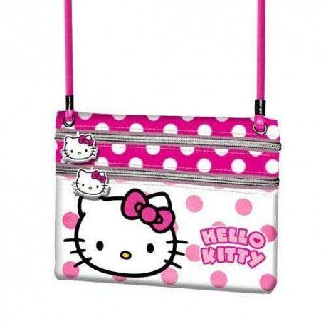 Portofel snur 17x14.5x1cm,Hello Kitty Dots