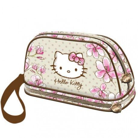 Geanta cosmetice 26x14x9cm,Hello Kitty Mognolia