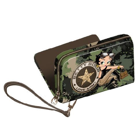 Portofel 12.5x9.5x3cm,Betty Boop,Army