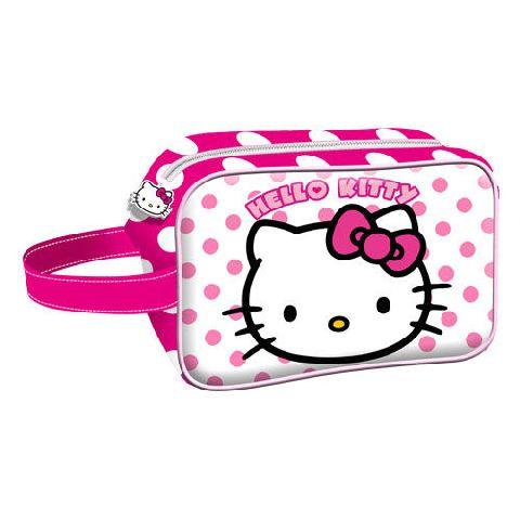 Geanta cosmetice 21.5x14x8cm,Hello Kitty Dots