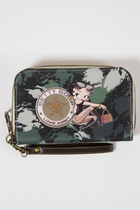 Portofel 15.5x10.5x3cm,Betty Boop,Army