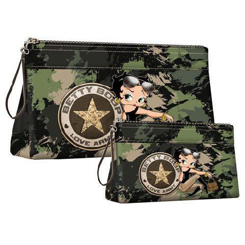 Geanta cosmetice Betty Boop,Army,2buc/set
