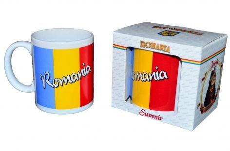 Cana tricolor Romania,cutie 11x10cm