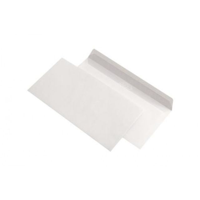 Plic DL,110x220mm,gumat,alb