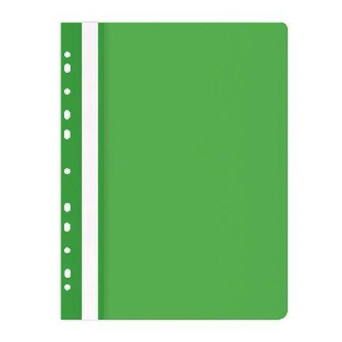 Dosar plastic A4,11 perforatii,verde