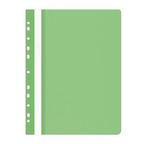 Dosar plastic A4,11 perforatii,verde deschis