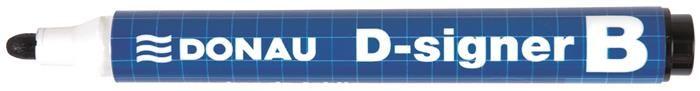 Marker pt tabla Donau,750,varf rotund,negru