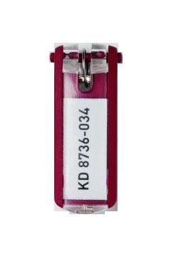 Suport eticheta cheie rosu, bucata