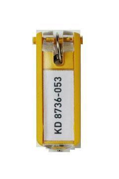 Suport eticheta cheie galben, bucata