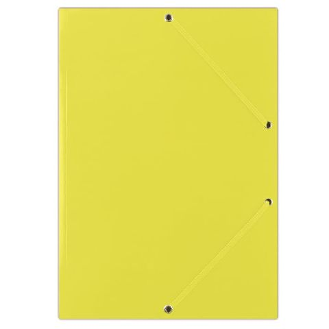 Mapa cu elatic A4,carton,galben