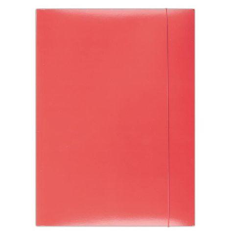 Mapa cu elatic A4,carton plastifiat,rosu