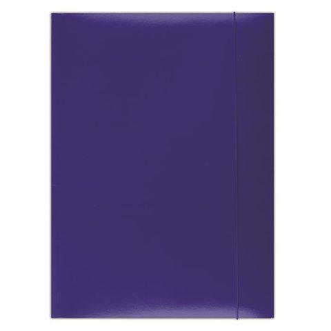 Mapa cu elatic A4,carton plastifiat,albastru