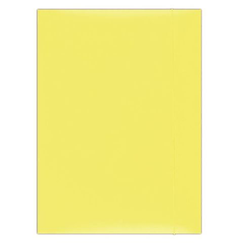 Mapa cu elatic A4,carton plastifiat,galben