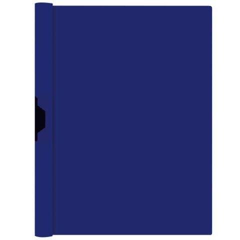 Dosar cu clip metalic A4,albastru