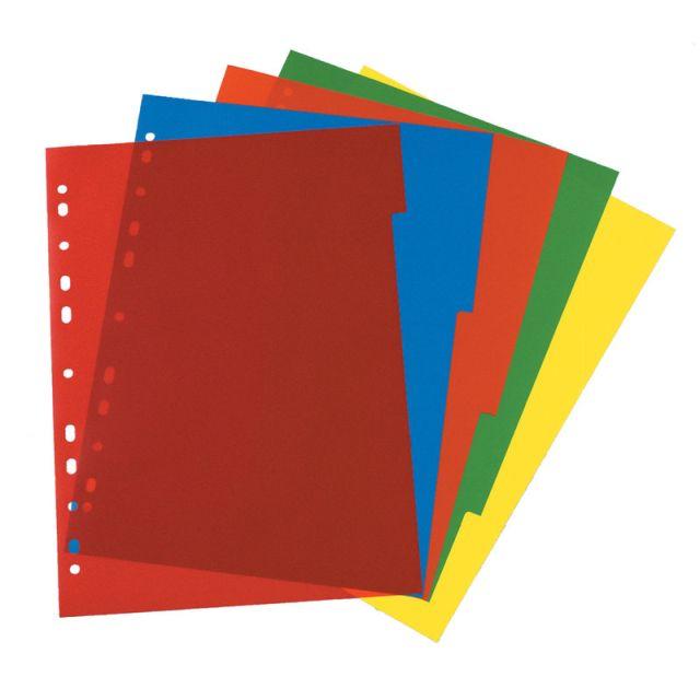 Separatoare plastic,A4,diverse culori,5buc/set