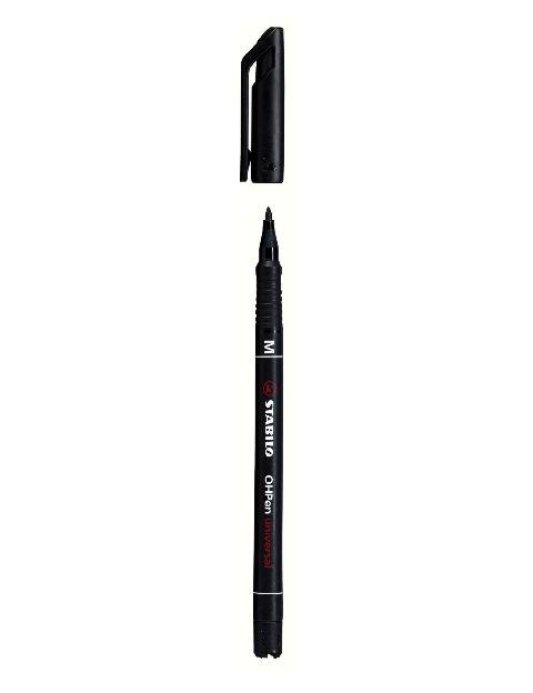 Marker permanent Stabilo OHPen,M,negru