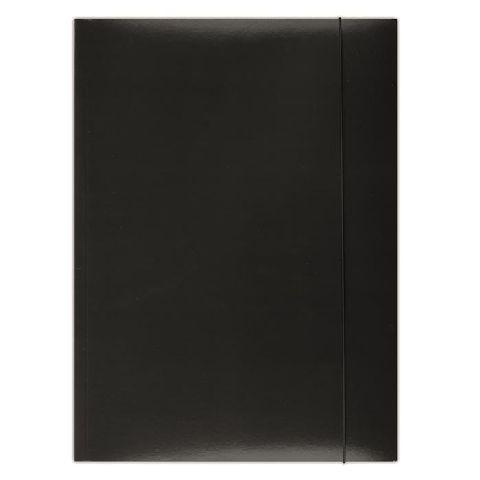 Mapa cu elatic A4,carton plastifiat,negru