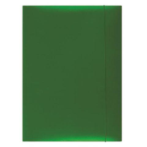 Mapa cu elatic A4,carton plastifiat,verde