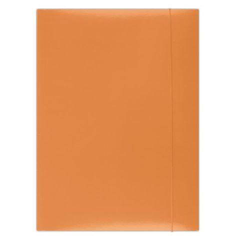 Mapa cu elatic A4,carton plastifiat,portocaliu