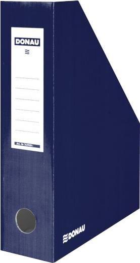 Suport documente Donau,8cm,caton,albastru inchis