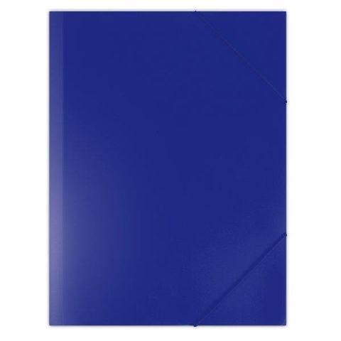 Mapa cu elastic A4,PP,albastru