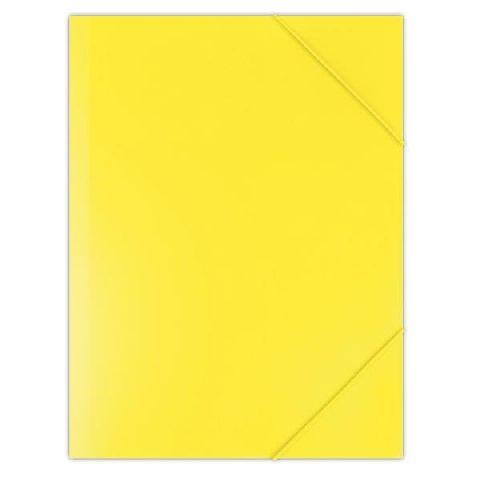 Mapa cu elastic A4,PP,galben