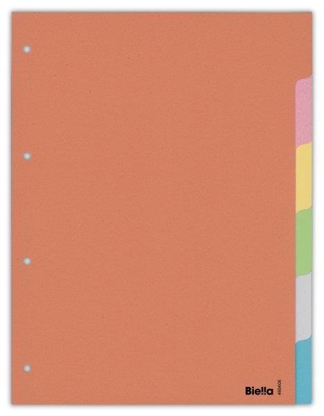 Separatoare carton A4,index color 6buc/set