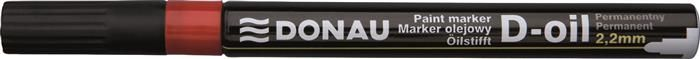 Marker permanent Donau,varf rotund,2.2mm,rosu
